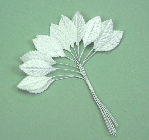 **NEW** Velvet Leaves 3cm White