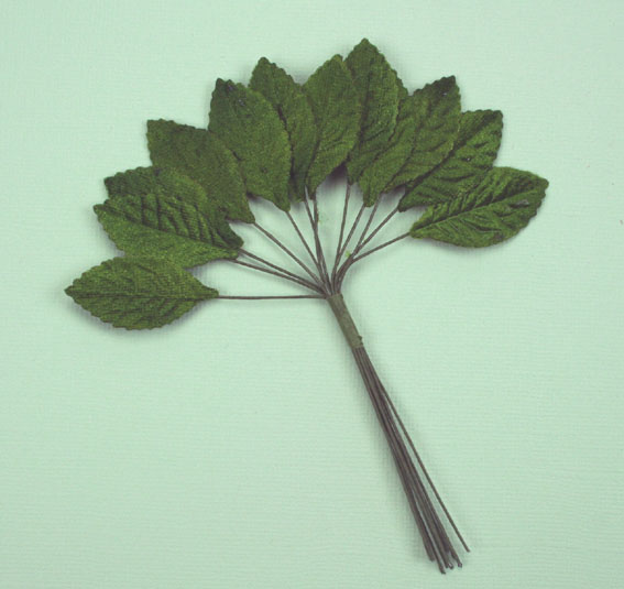 **NEW** Velvet Leaves 3cm Green