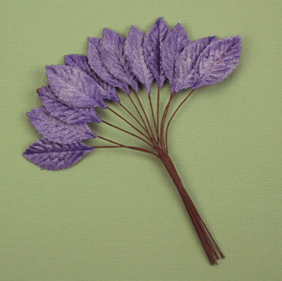 Velvet Leaves 3cm Purple