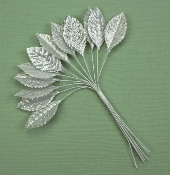 **NEW** Velvet Leaves 3cm Silver
