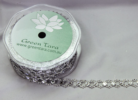 *NEW* 10mm Silver Trim 9m, Diamond
