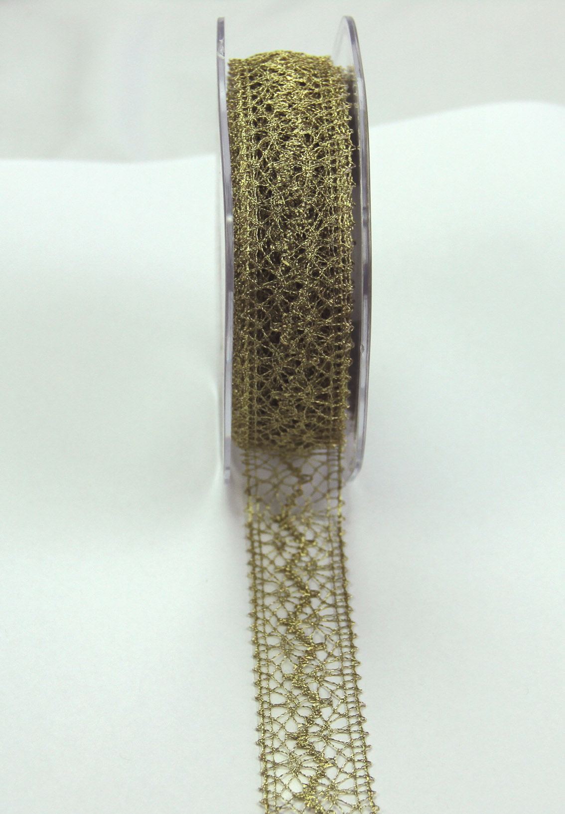 22mm Lace Ribbon 10m Metallic Gold