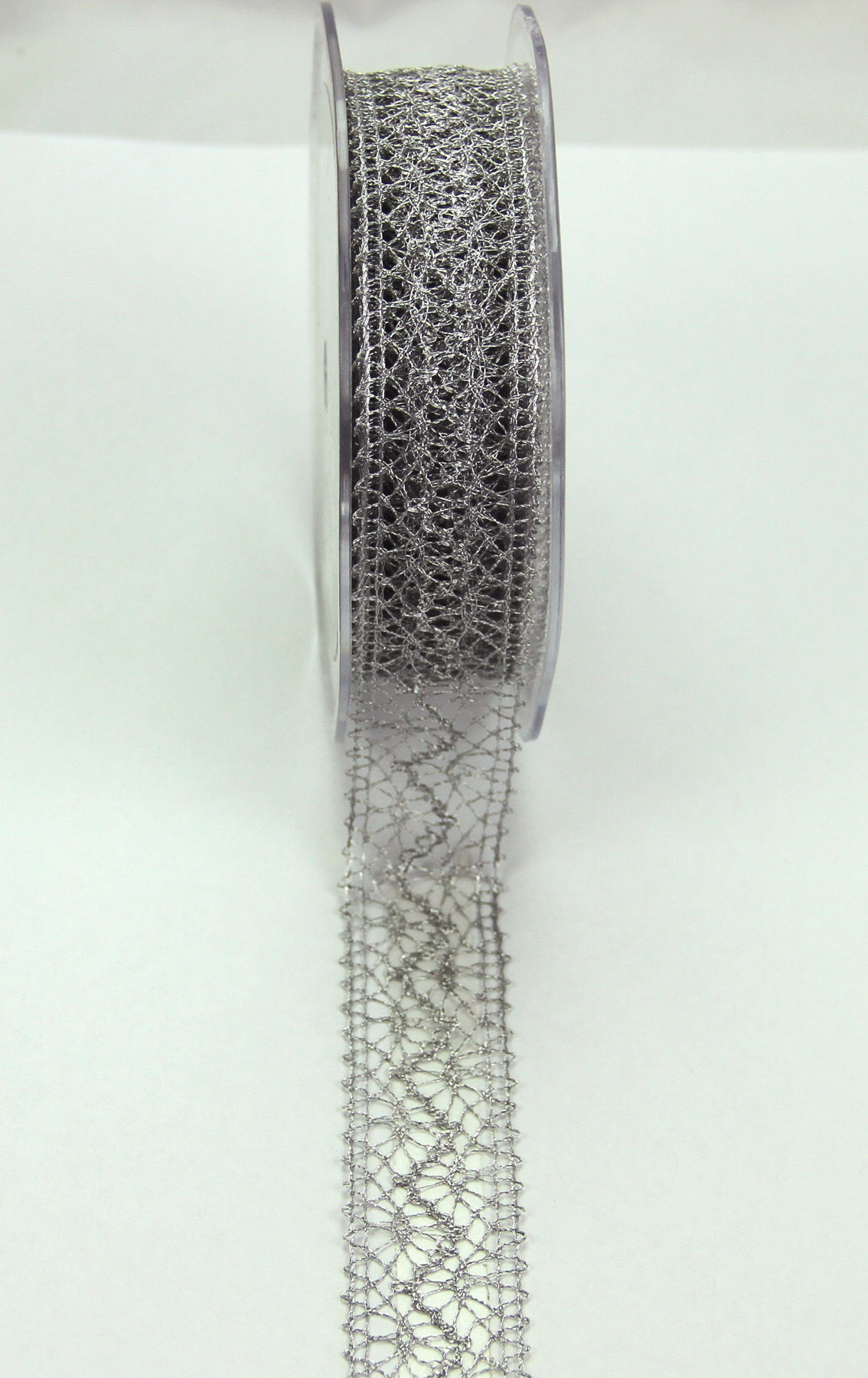 22mm Lace Ribbon 10m Metallic Silver