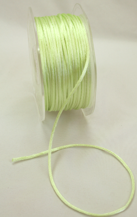 2mm Satin Rat Tail Cord 50m roll Mint