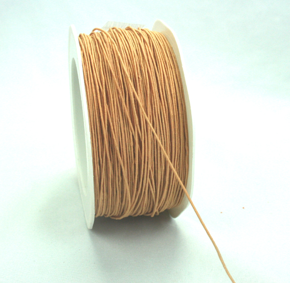 1mm Wire Cord 100m Roll Light Brown