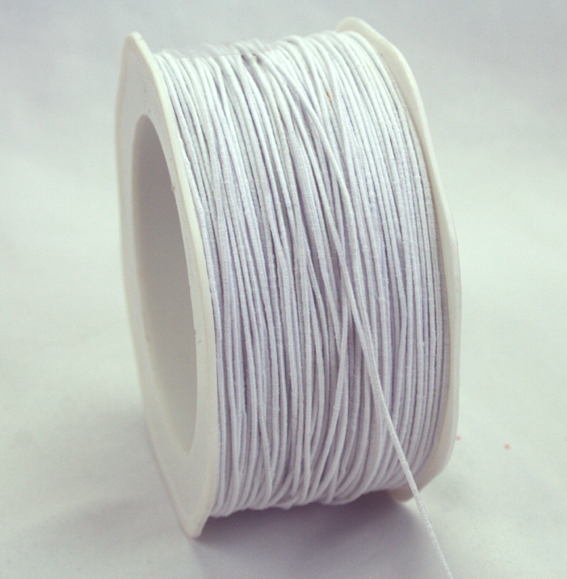 1mm Wire Cord 100m Roll White