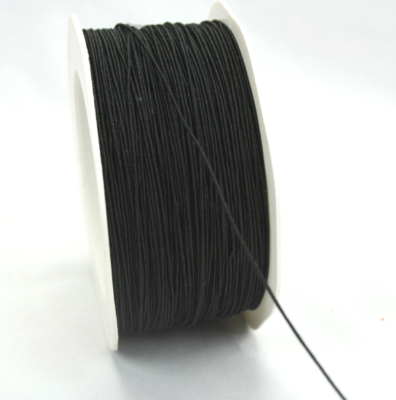 1mm Wire Cord 100m Roll Black