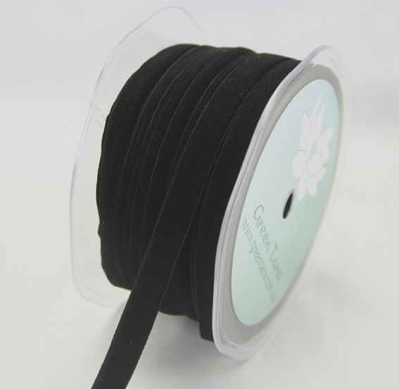 9mm Velvet 20m Roll Black