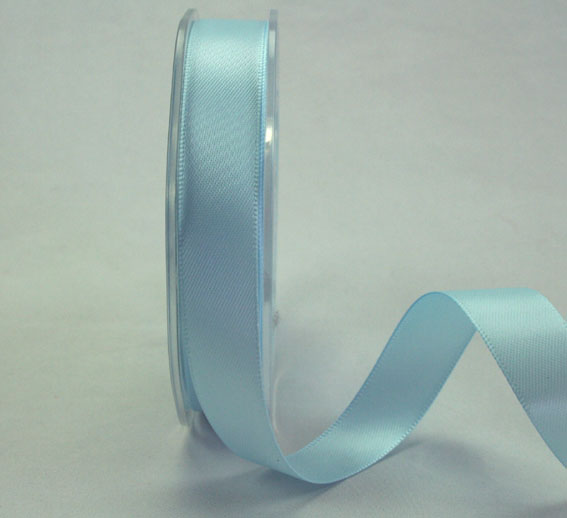9mm Double Sided Satin Ribbon Pale Blue