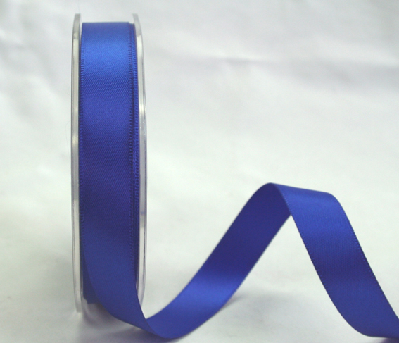 9mm Double Sided Satin Ribbon Royal Blue