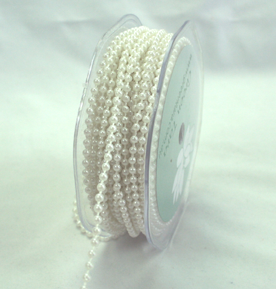 3mm Pearl Trim 20m Roll White