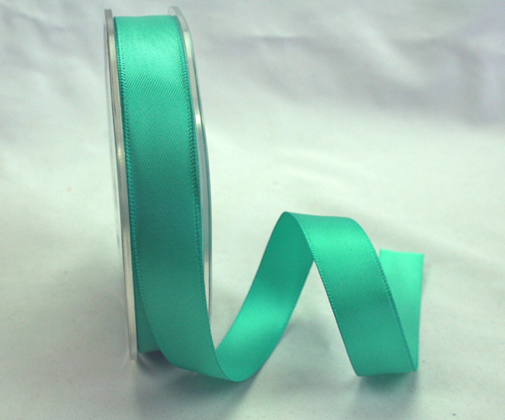 15mm Double Sided Satin Ribbon 25m Turquoise
