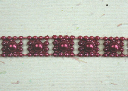 8mm Bead Garland, Burgundy