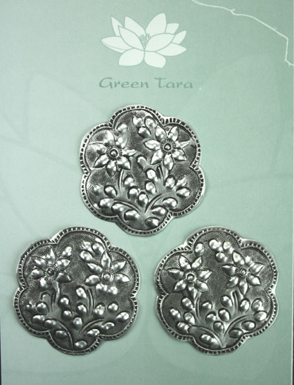 Metal Embellishments Flower Design 2.