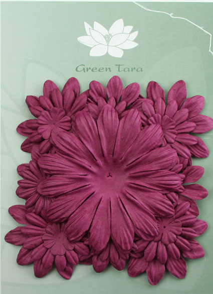 Pack of 22 mixed petals, Plum