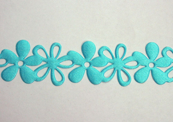 20mm Self Adhesive Flower Garland 10m Roll Turquoise