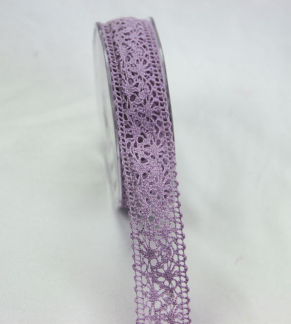 10m Lace Ribbon, 22mm Lilac