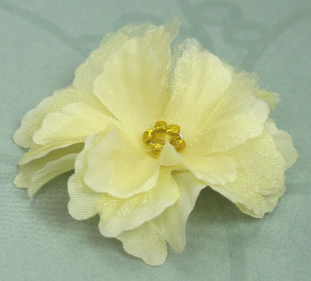 Primula 4.5cm Silk and Organza Flowers 12 pcs Yellow