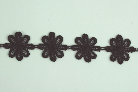 21 Yards Lace, 2.5cm Black