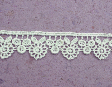 21 Yards Lace, 2.5cm White