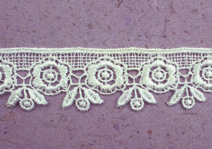 15 Yards Lace, 3cm White