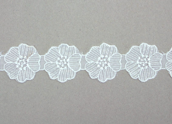 15 Yards Lace, 3.8cm White