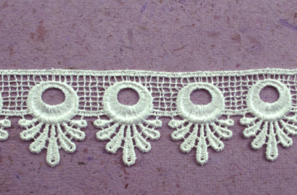 21 Yards Lace, 3.5cm White