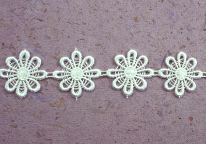 15 Yards Lace, 2.5cm  Off White