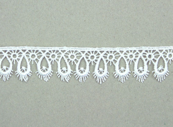 21 Yards Lace, 2.4cm White