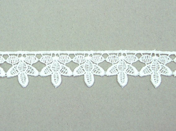 21 Yards Lace, 2.8cm White