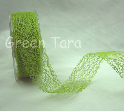 38mm Mesh Lime Green