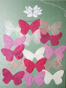15 Mini Butterflies, Pink
