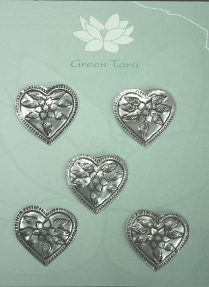 Metal Embellishments Hearts  2.5cm