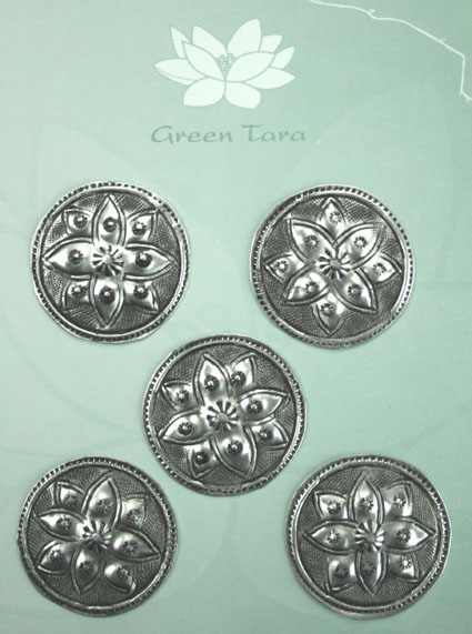 Metal Embellishments Flower Design 3cm