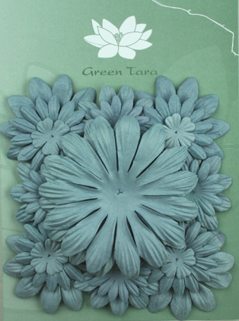 Pack of 22 mixed petals, Grey Blue