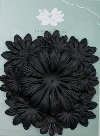 Pack of 22 mixed petals, Black