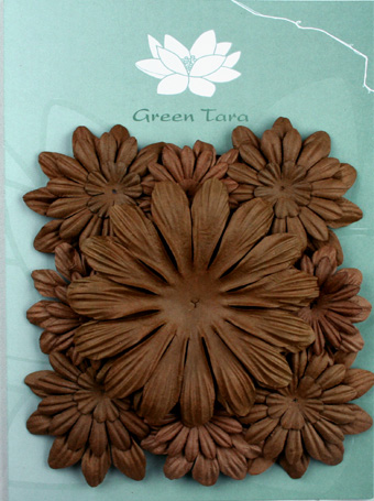 Pack of 22 mixed petals, Dark Brown