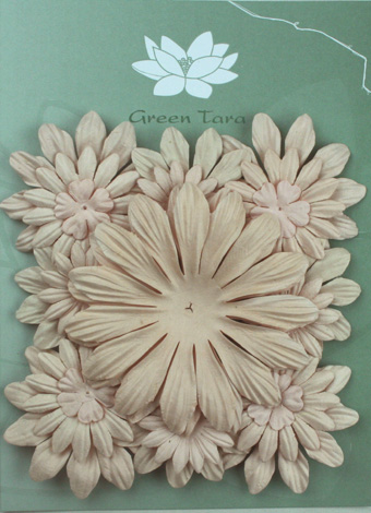 Pack of 22 mixed petals, Taupe