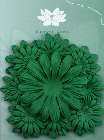 Pack of 22 mixed petals, Xmas Green