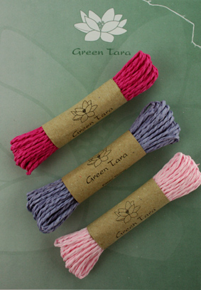 Mixed pack of 3 Paper string Pink