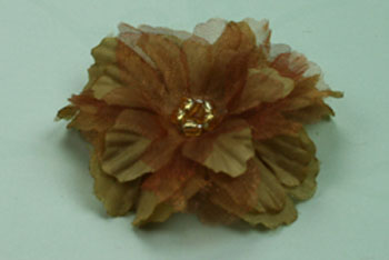 Primula 4.5cm Silk and Organza Flowers 12 pcs Light Brown