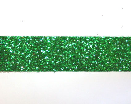 20m Glitter ribbon 25mm, Green
