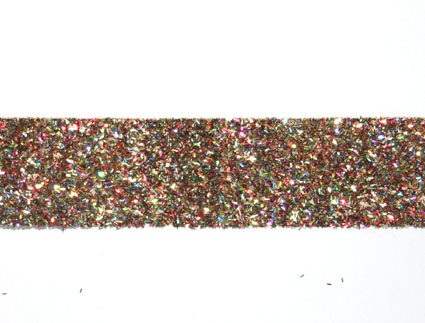 20m Glitter ribbon 25mm, Harlequin