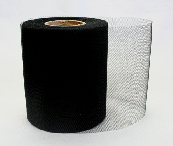 100mm Tulle Black 25m