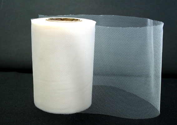 100mm Tulle White 25m