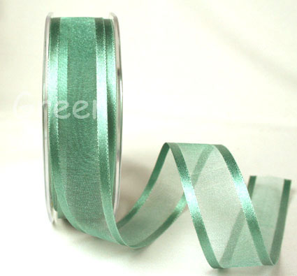 23mm Satin Edged Organza Aqua 25m