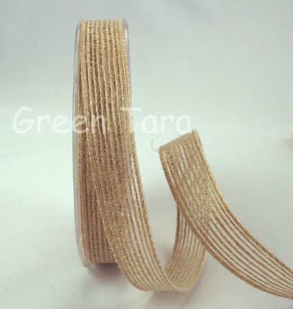 15mm Natural Jute Ribbon 10m