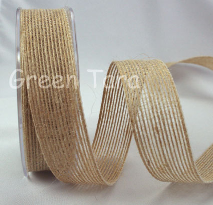 25mm Natural Jute Ribbon 10m