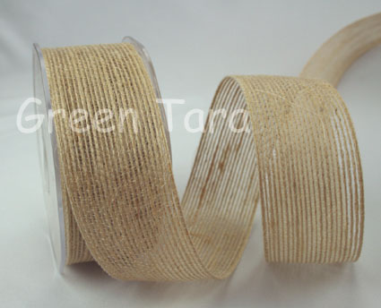 38mm Natural Jute Ribbon 10m