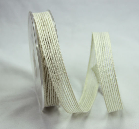 15mm Natural Jute Ribbon 10m Ivory
